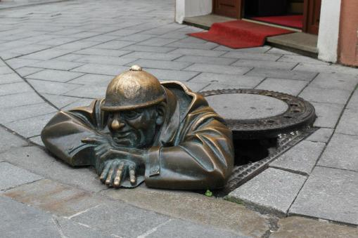 Man at work. Bratislava.