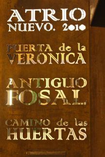 Indicaciones en la Catedral de Tarazona