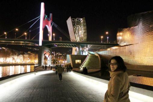 La ría a su paso por el Guggenheim