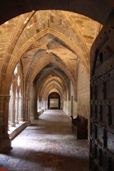 Acceso al claustro de Veruela
