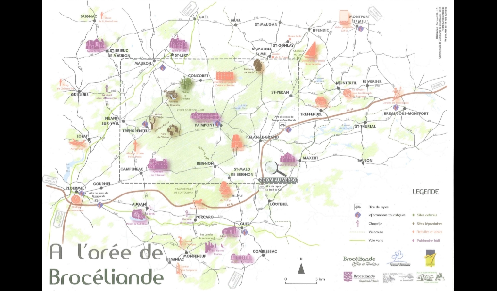 Mapa de Broceliande