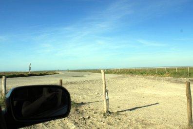 playa desde el coche