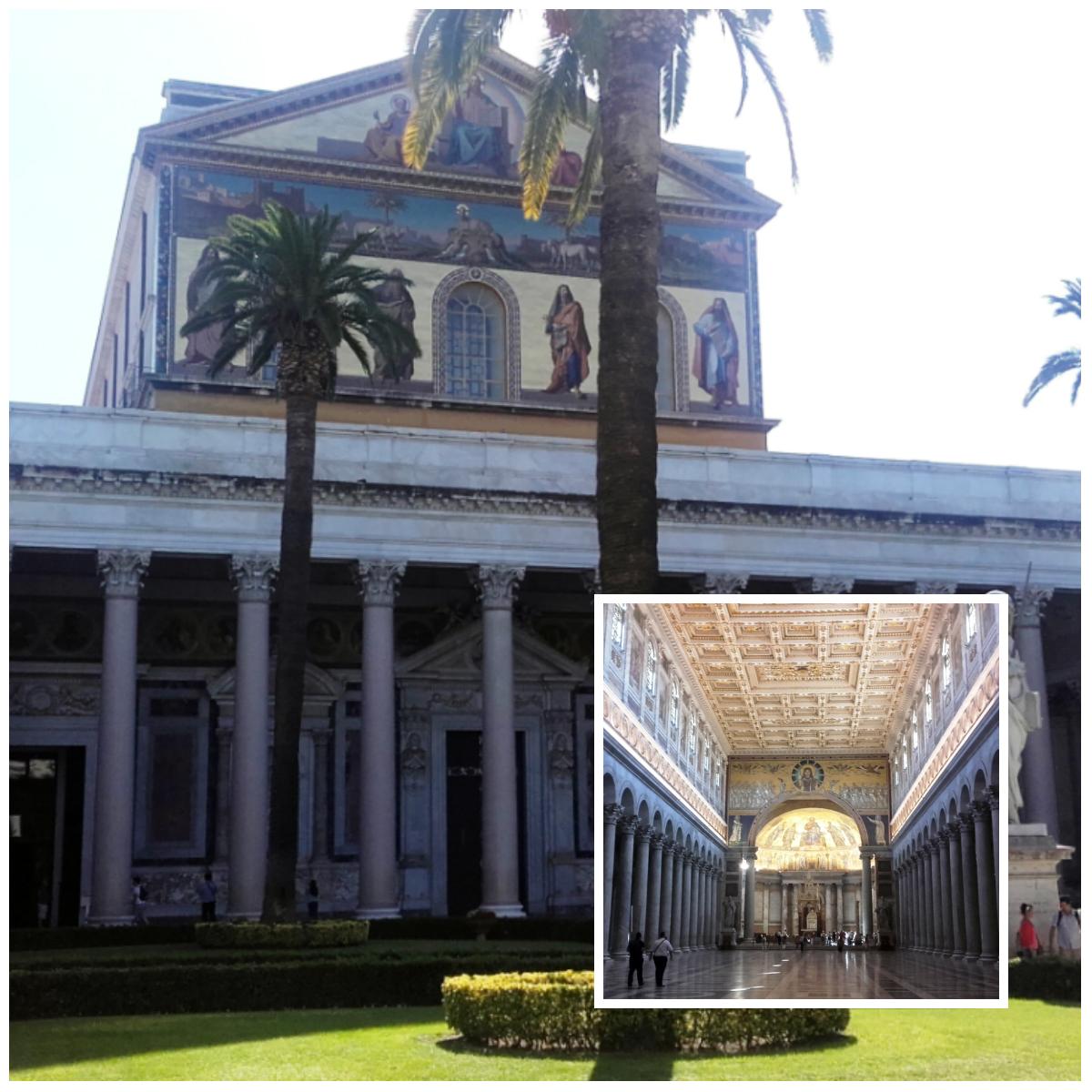 Interior y exterior de basílica San Pedro y San Pablo
